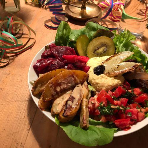 vegetarische Kost im CaféLaden